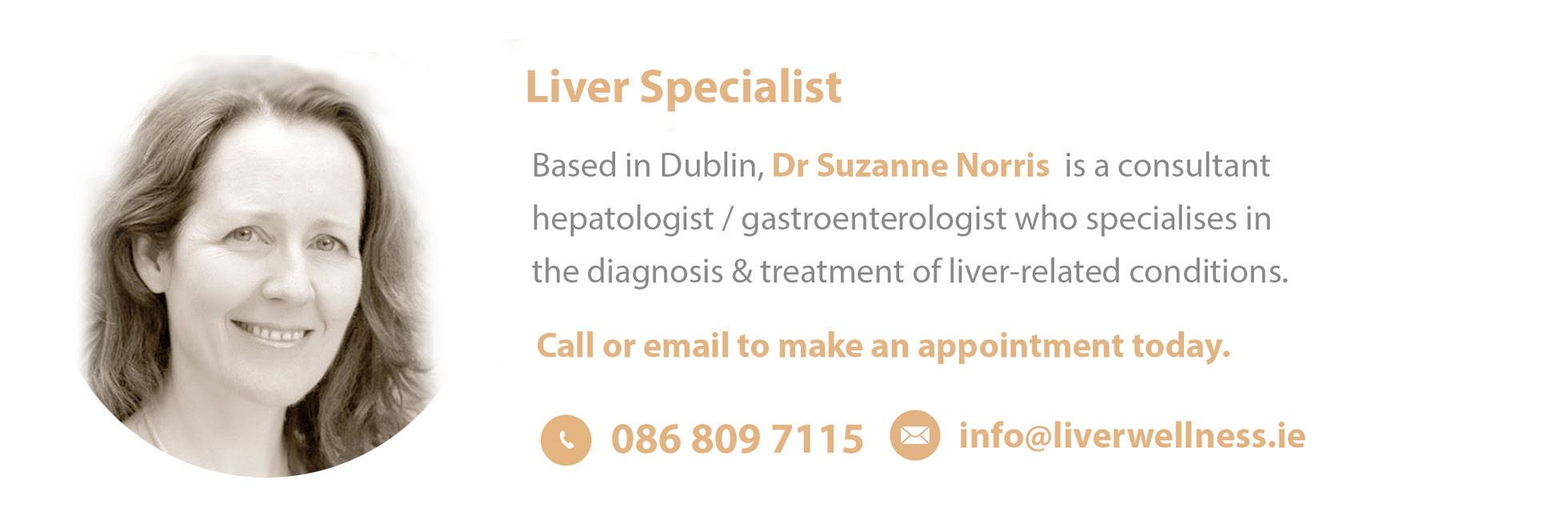 Dr Suzanne Norris, Liver Wellness & Liver Tests, Beacon Hospital, Dublin